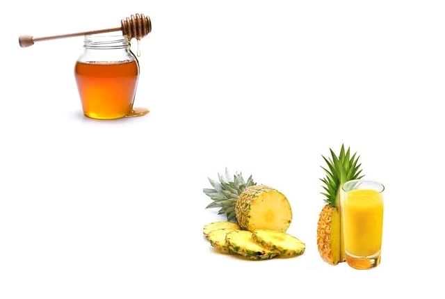 Pineapple honey gelatin mask:
