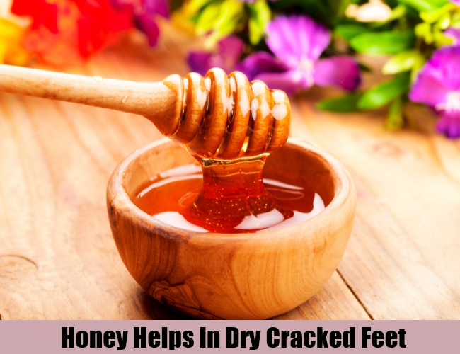 Honey Helps In Dry Cracked Feet
