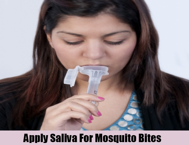 Apply Saliva For Mosquito Bites