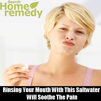 Rinse Your Mouth With Saltwater