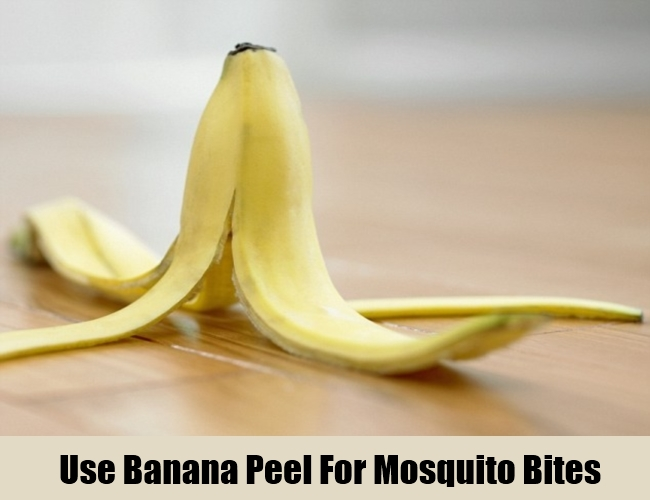 Use Banana Peel For Mosquito Bites