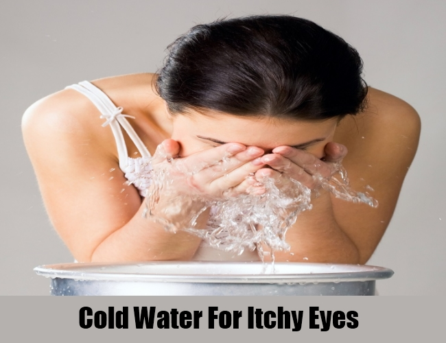Cold Water For Itchy Eyes