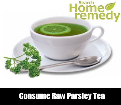 Consume Raw Parsley Tea