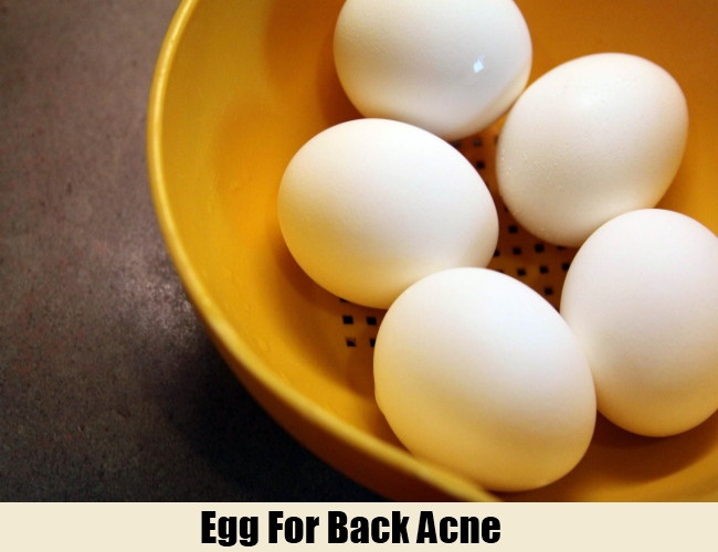 Egg For Back Acne