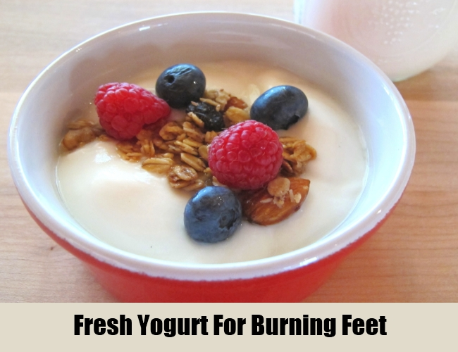 Fresh Yogurt For Burning Feet