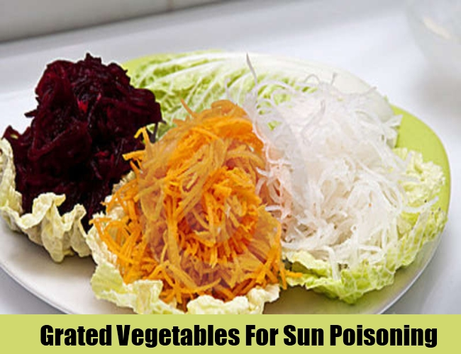 Grated Vegetables For Sun Poisoning