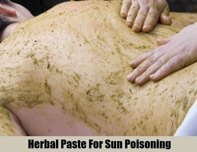 Herbal Paste For Sun Poisoning