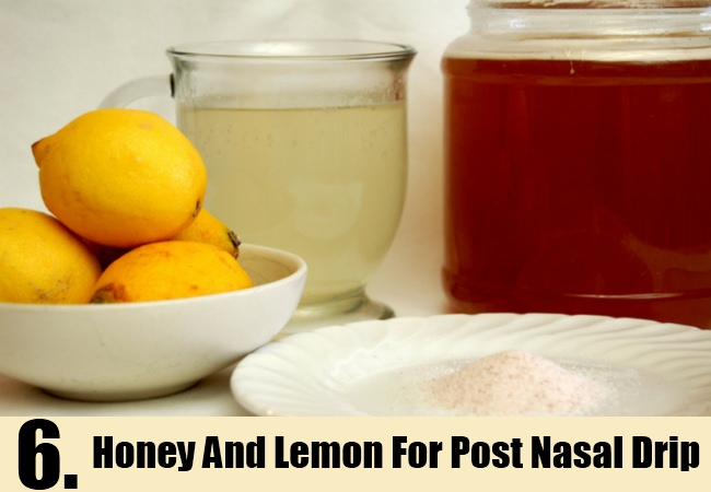 Honey And Lemon For Post Nasal Drip