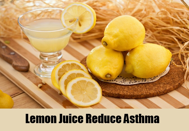 Lemon Juice Reduce Asthma