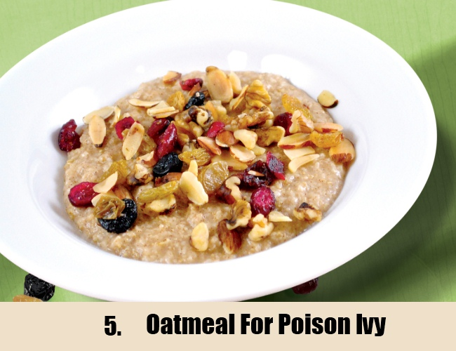 Oatmeal For Poison Ivy