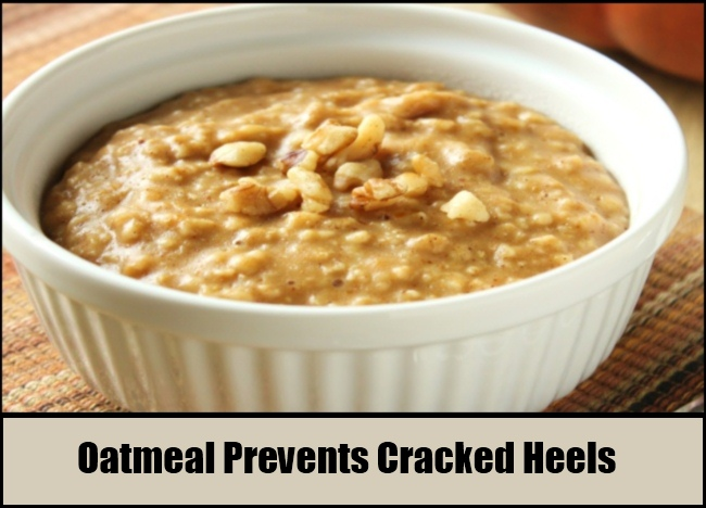 Oatmeal Prevents Cracked Heels