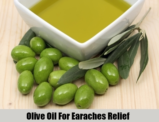 Olive Oil For Earaches Relief