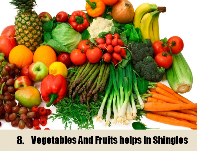 Vegetables And Fruits For Shingles