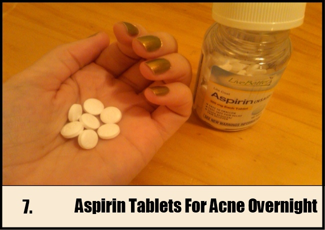 Aspirin Tablets For Acne Overnight