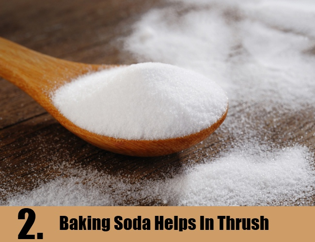 Baking Soda Helps In Thrush