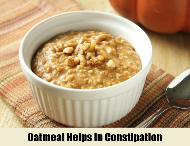Oatmeal Helps In Constipation