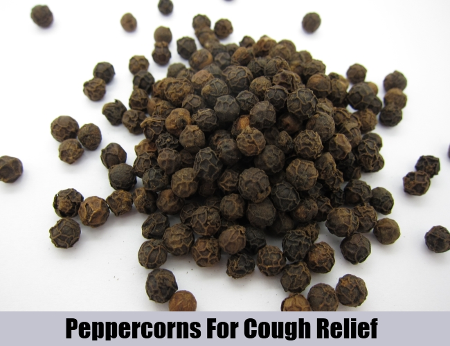 Peppercorns For Cough Relief