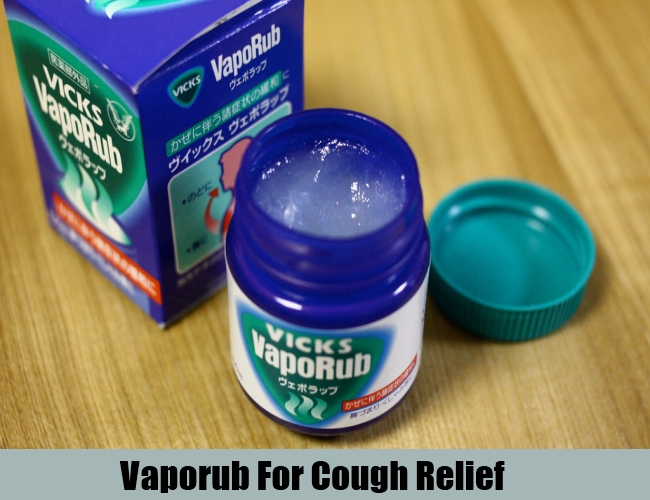 Vaporub For Cough Relief