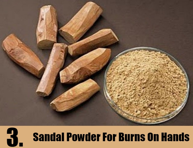 Sandal Powder For Burns On Hands