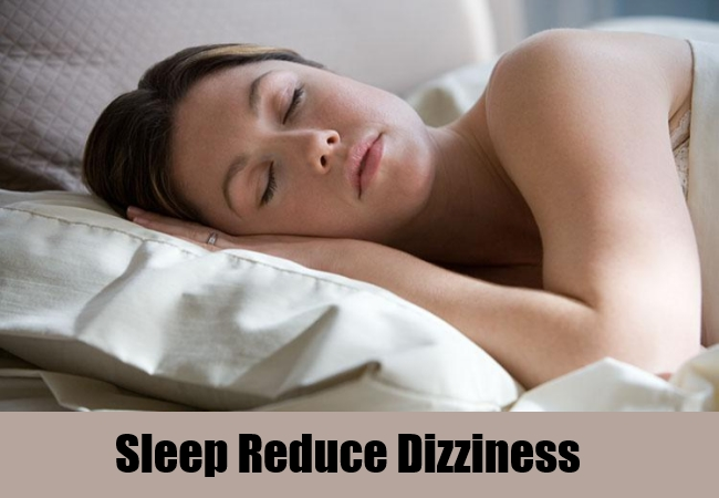 Sleep Reduce Dizziness