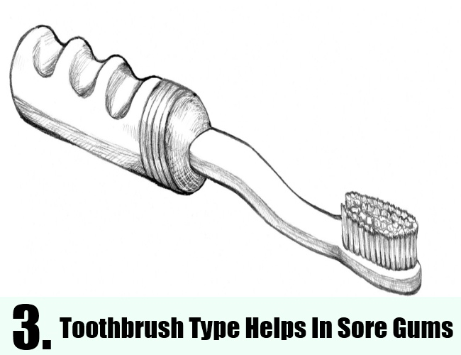 Toothbrush Type Helps In Sore Gums