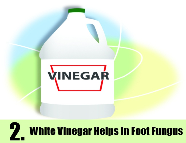 White Vinegar Helps In Foot Fungus