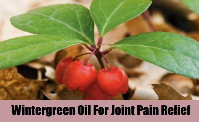 Wintergreen Oil For Joint Pain Relief