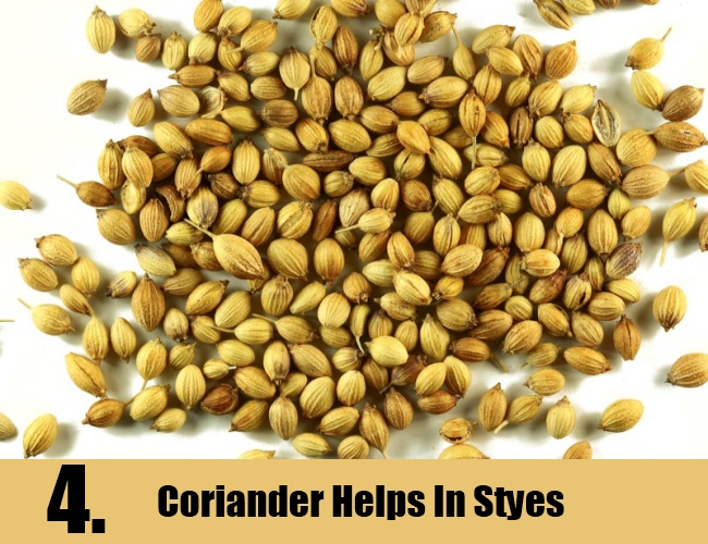 Coriander Helps In Styes