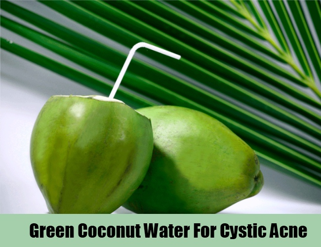 Green Coconut Water For Cystic Acne