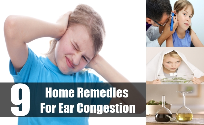 Home Remedies For Ear Congestion