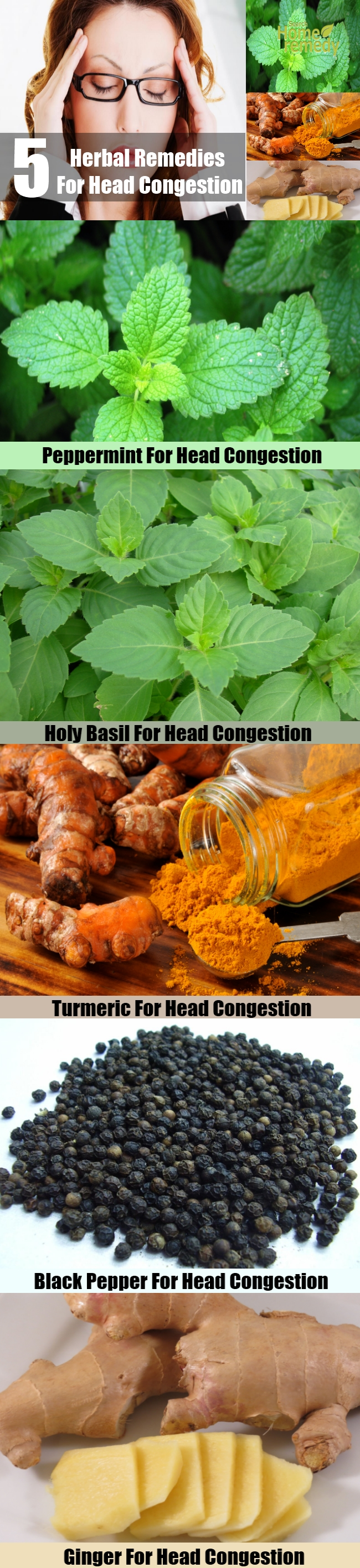 5 Effective Herbal Remedies For Head Congestion
