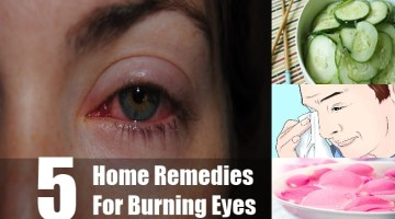 Home Remedies Of Burning Eyes