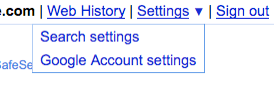 New Google Interface: Search Settings