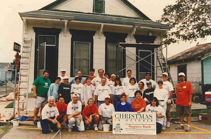 Volunteers from Regions Bank - Christmas in October 1992, Photo Credit: RT Staff Member
