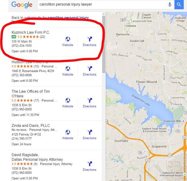 Green Google Map Ad