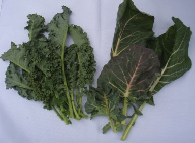 kale and collard greens