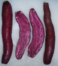 deep purple sweet potatoes