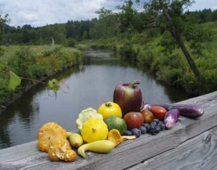 produce on river