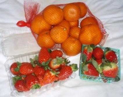 satsumas and strawberries
