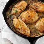 Chicken and Mushrooms in a Creamy Mustard Tarragon Sauce