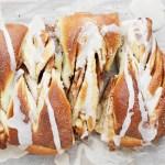 Cinnamon Sugar Pull-apart Loaf with Maple Glaze