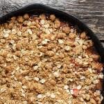 Skillet Rhubarb Crunch