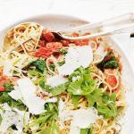 Blistered Tomato, Arugula and Mascarpone Pasta
