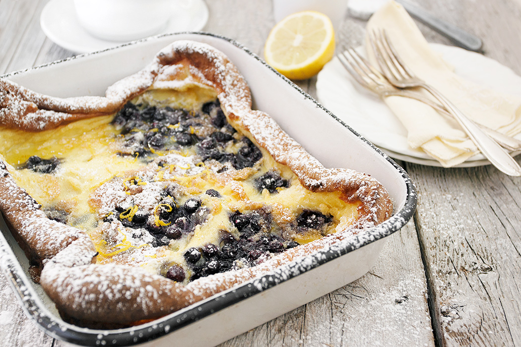 Pannukakku Finnish Pancake with Wild Blueberries