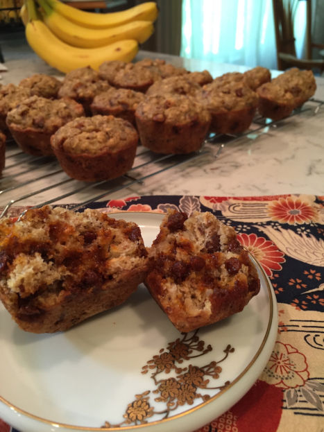 Cinnamon Chip Banana Muffins with Walnuts (A Seat at the Table)
