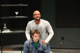 Jason Sanford as the King of Navarre and Jay Myers as Dumain.