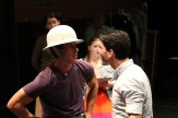 "David Quicksall as Dogberry and Noah Greene as Borachio in rehearsal for ""Much Ado About Nothing."""