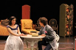 Hana Lass as Cecily and Quinn Franzen as Algernon.
