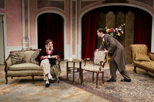 Quinn Franzen and Connor Toms in The Importance of Being Earnest (2014). Photo by John Ulman.