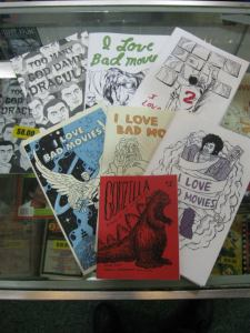 Short Run zines at Scarecrow Video